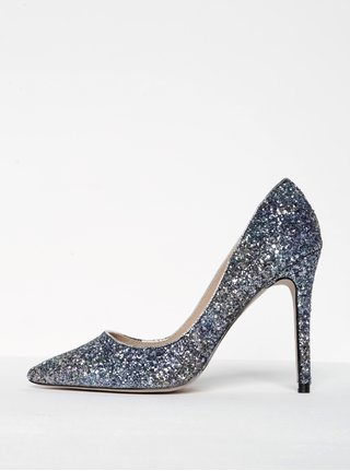 Pantofi stiletto cu paiete si varf ascutit -  Miss KG