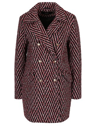 Pardesiu multicolor de iarna cu model Chevron VERO MODA Paris