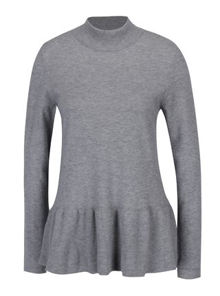 Bluza peplum gri tricotata fin - VERO MODA Sky