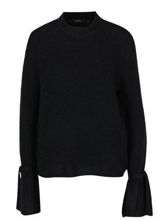 Čierny sveter so zvonovými rukávmi VERO MODA Elina