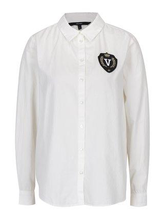 Krémová košeľa s nášivkou VERO MODA Leah