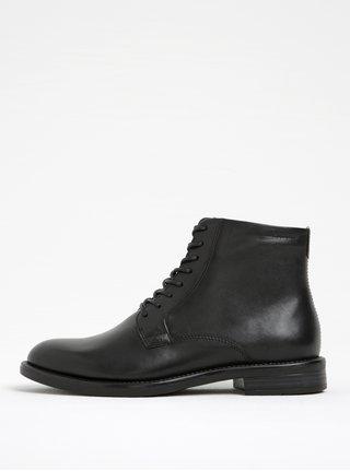 Černé dámské kožené kotníkové boty Vagabond Amina
