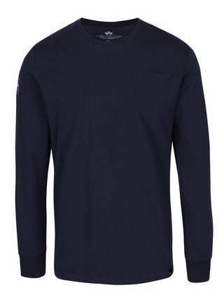 Bluza bleumarin cu aplicatie si buzunar ALPHA INDUSTRIES