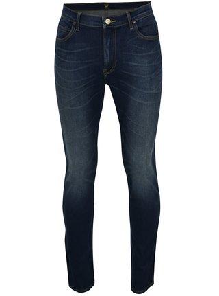 Tmavě modré pánské slim fit džíny s vyšisovaným efektem Lee Rider