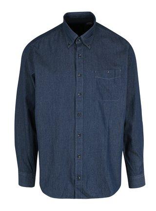 Tmavě modrá modern fit košile s jemným vzorem JP 1880