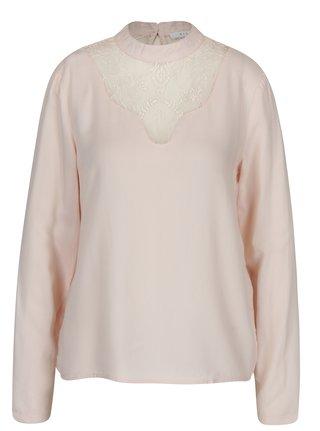 Bluza roz pal cu dantela VILA Agnia