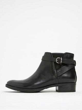 Čierne kožené členkové topánky Geox Meldi NP