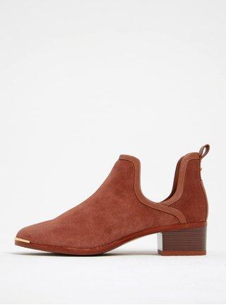 Cihlové semišové kotníkové boty Ted Baker Twillo