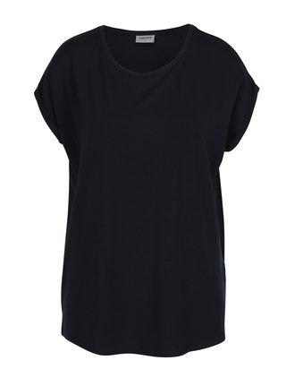 Tmavomodré basic tričko s krátkym rukávom VERO MODA AWARE Ava