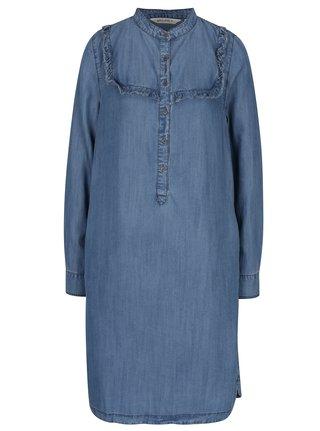 34c353bb8425 Svetlomodré rifľové košeľové midi šaty Garcia Jeans