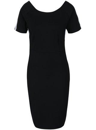 Čierne šaty so zipsom na chrbte Broadway Mable