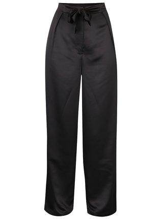Čierne voľné nohavice s vysokým pásom VILA Larissa