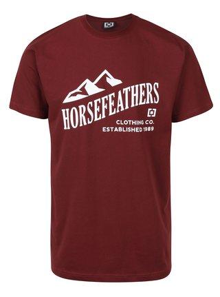 Tricou visiniu pentru barbati  Horsefeather Ripple