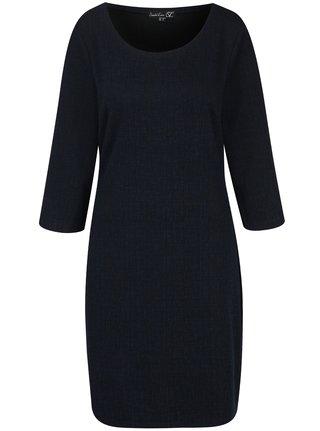 Tmavomodré šaty s 3/4 rukávom Smashed Lemon