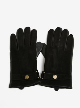 Manusi negre din piele Selected Homme Eric