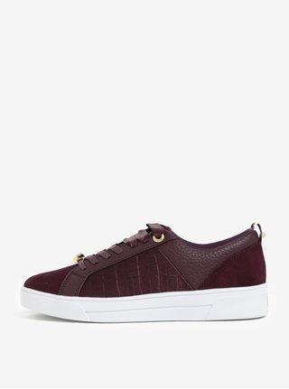 Pantofi sport bordo din piele naturala - Ted Baker Kulei