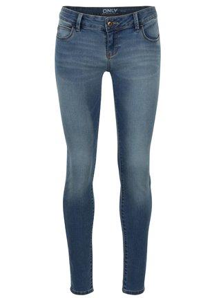 Modré skinny džíny s nízkým pasem ONLY Coral
