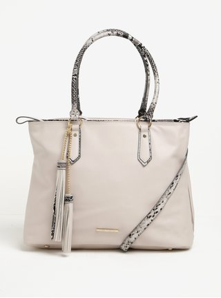 Béžová kabelka s detaily s hadím vzorem LYDC