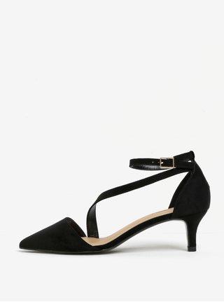 Sandale negre cu toc si bareta pe glezna - Miss KG Archer