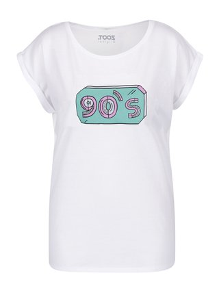 Tricou alb cu print pentru femei ZOOT Original 90's