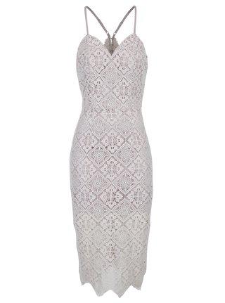 Svetlofialové čipkované šaty Chi Chi London