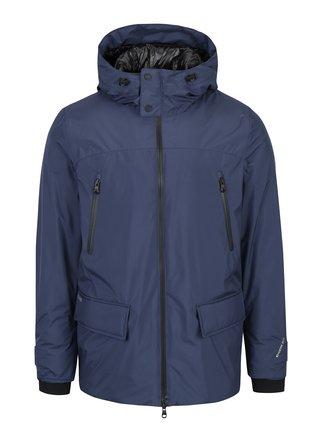 Tmavě modrá pánská zimní voděodolná bunda Geox