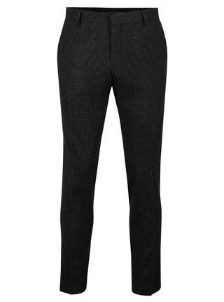 Pantaloni albastru inchis cu carouri din amestec de lana Selected Homme ONe-Mylo