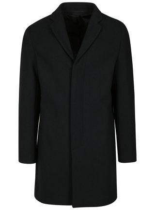 Tmavě modrý pánský kabát s příměsí vlny Selected Homme Brove