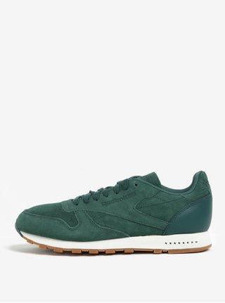 Pantofi sport verde deshis din piele naturala intoarsa pentru barbati - Reebok SG