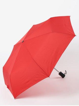 Červený skládací vystřelovací deštník RAINY SEASONS Moon