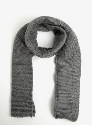 Sivý plisovaný dámsky šál so striebornými vláknami Pieces Roxan
