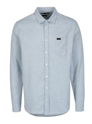Světle modrá pánská žíhaná košile s náprsní kapsou Makia Luoto