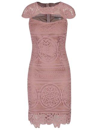 Staroružové čipkované puzdrové šaty Miss Grey Nadia