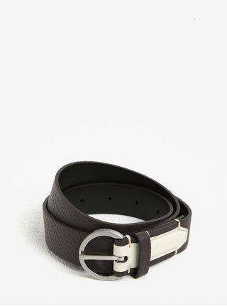 Tmavohnedý dámsky kožený opasok Calvin Klein Jeans Lizzy