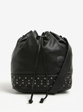 Čierna vaková kabelka s cvokmi Meatfly Orphan