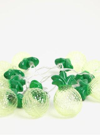 Instalatie de lumini galbena&verde cu tematica ananas BUTLERS