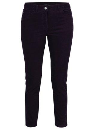 Pantaloni mov din material reiat pentru femei M&Co
