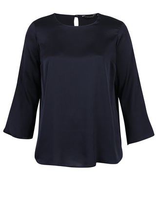 Bluza bleumarin cu decupaje pe maneci Dorothy Perkins Curve