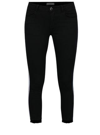 Pantaloni negri cu dungi albe laterale Haily´s Two