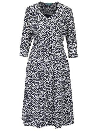 Modro-biele vzorované košeľové šaty s opaskom Fever London Morris