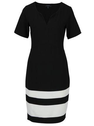Čierne šaty s pruhmi Fever London Winona