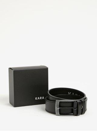 Čierny pánsky kožený opasok KARA