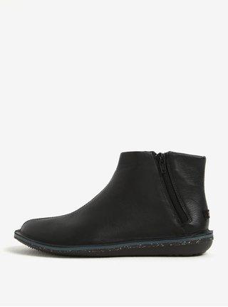 Čierne dámske kožené členkové topánky so zipsom Camper Muffler