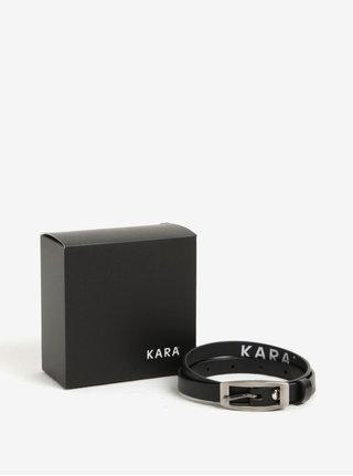 Curea ingusta din piele naturala pentru femei - KARA