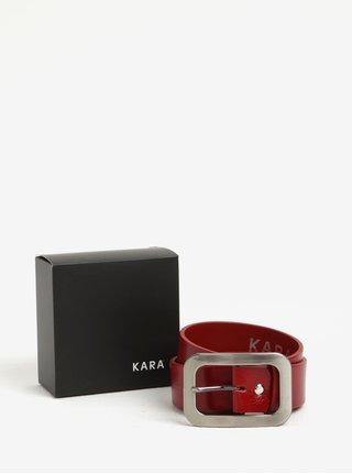 Curea rosie din piele naturala pentru femei - KARA
