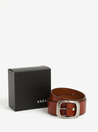 Catarama caramizie din piele naturala pentru femei -  KARA