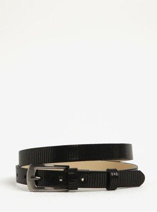 Čierny dámsky úzky kožený opasok KARA
