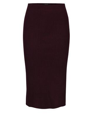 Vínová sukňa s ozdobným lemom na boku Scotch & Soda