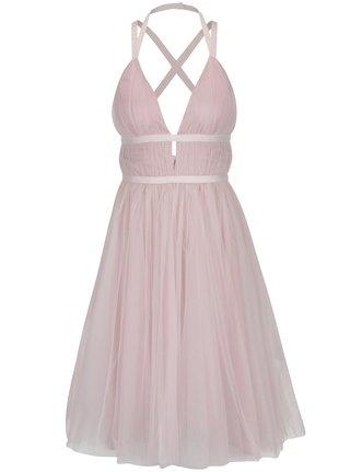4df45def2772 Svetloružové šaty s odhaleným chrbtom Chi Chi London Ivonette