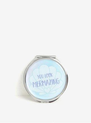 Oglinda dubla compacta bleu cu mesaj - Sass & Belle Mermaid Treasures